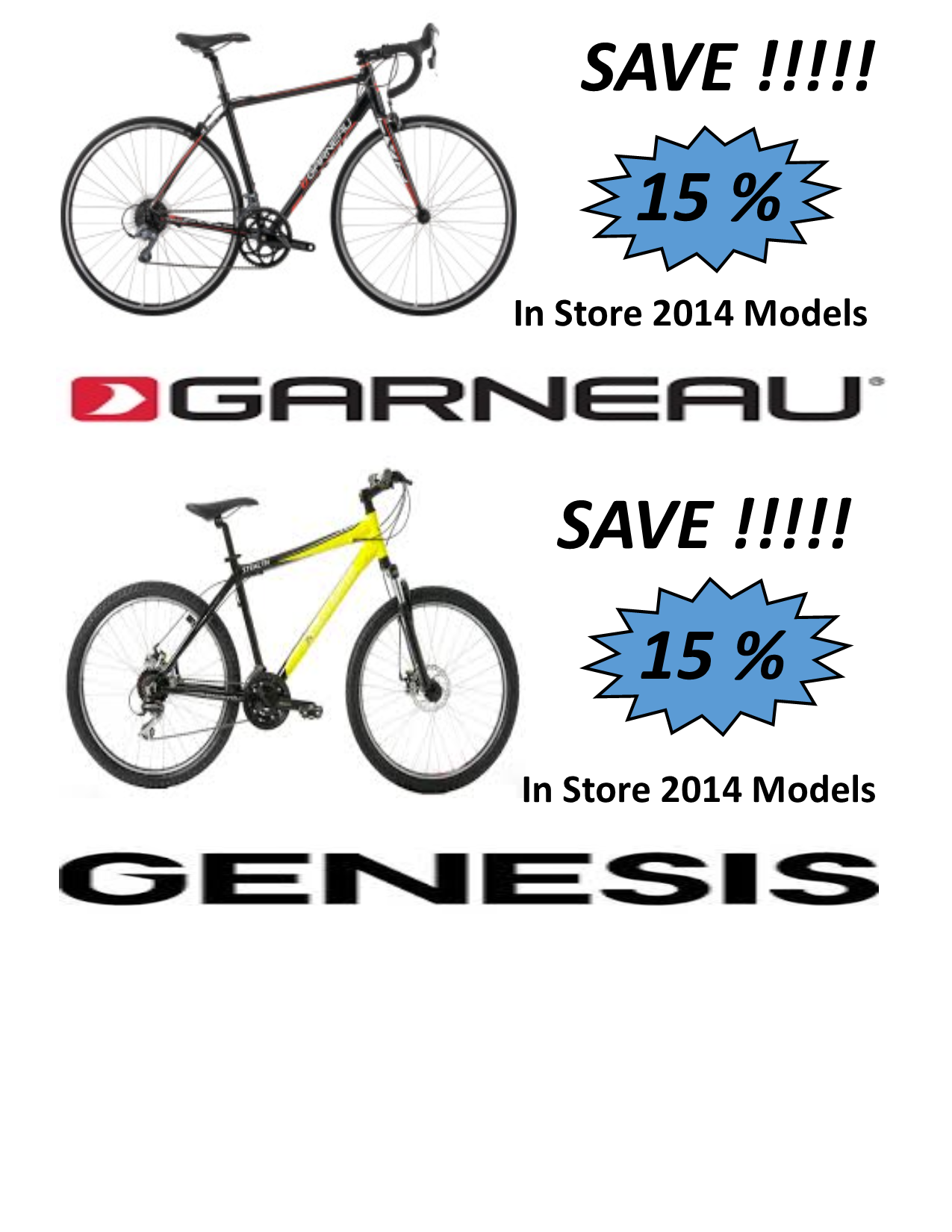 flyer for bike sale